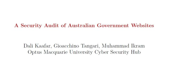 Security audit of publicly accessible Australian government websites has been released